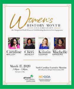 NCDOA 2020 Women's History Month Celebration